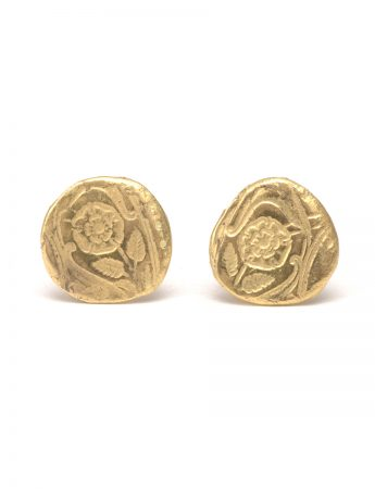 Lotus Stud Earrings - Gold