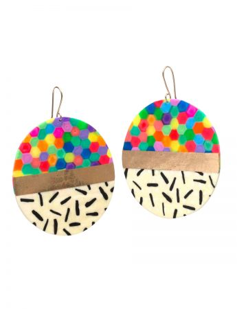Large Circle Earrings – Multicolour