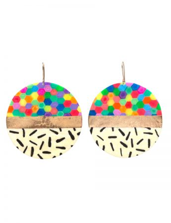 Large Circle Earrings - Multicolour