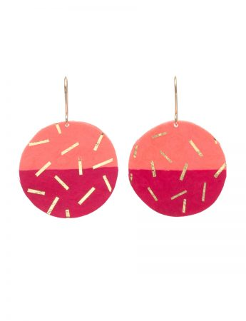 Small Coral / Rose Confetti earrings