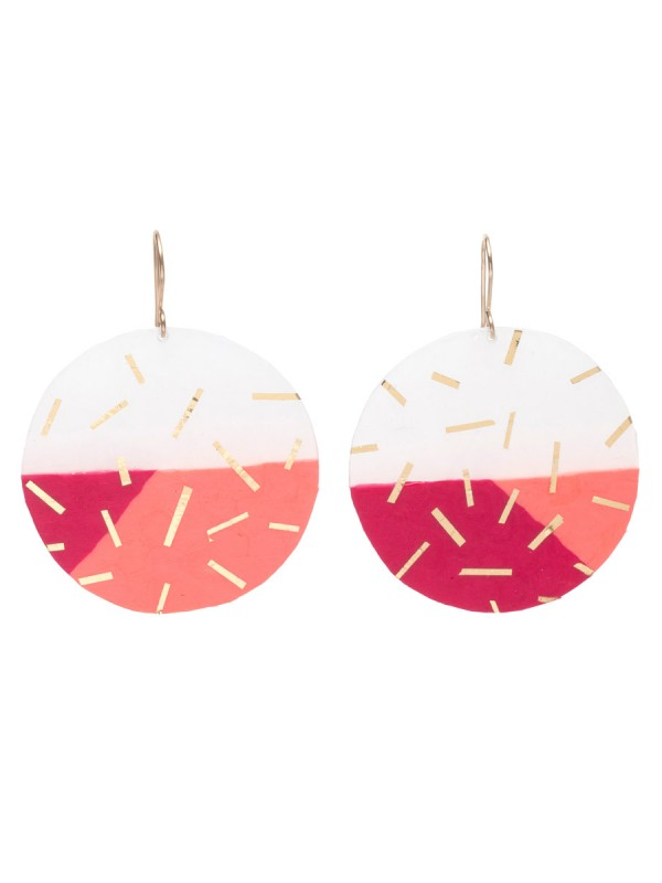 Large Confetti Circle earrings