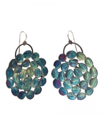 Hanging Earrings - Blue & Green