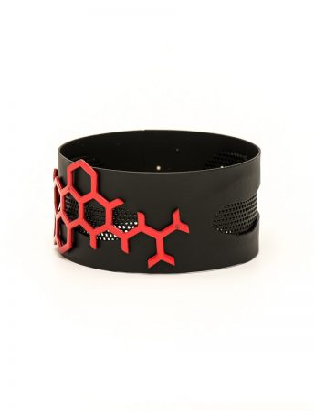 Black and red bangle
