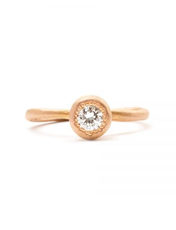 Pledge Ring - Rose Gold & Diamond