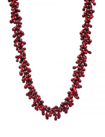 Loose Glass Neckpiece – Red