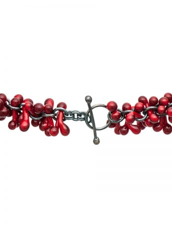 Loose Glass Neckpiece - Red