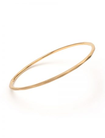 Faceted Bangle - Yellow Gold