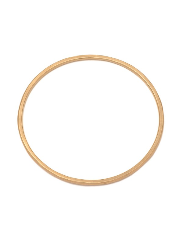 Faceted Bangle – Yellow Gold