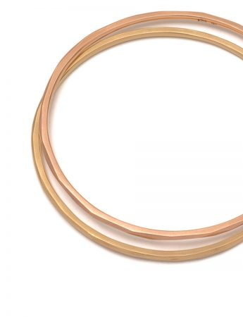 Faceted Bangle – Rose Gold