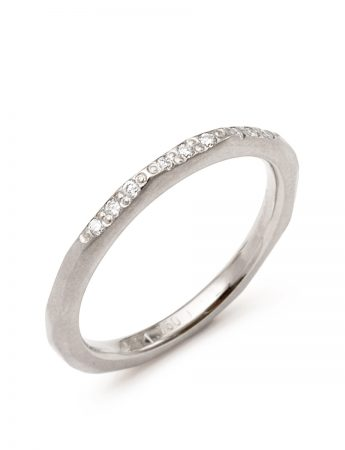 Night Sky Ring - White Gold & Diamond