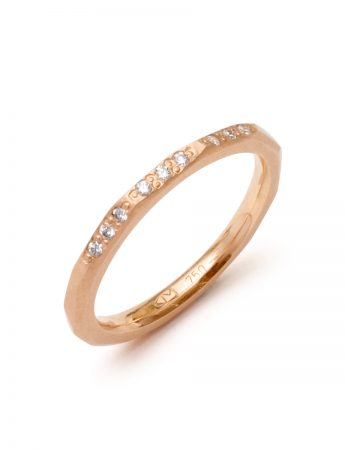 Night Sky Ring – Rose Gold & Diamond