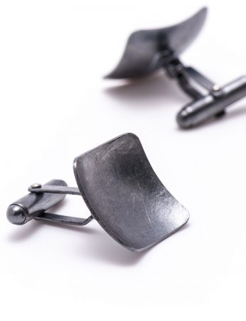 Square Cufflinks - Oxidised Silver