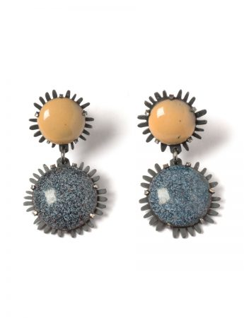 Golden Nights - Enamelled Earrings