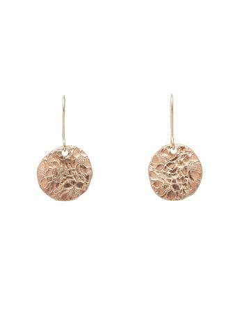 Large Japanese Flower Earrings - Rose Gold Plated