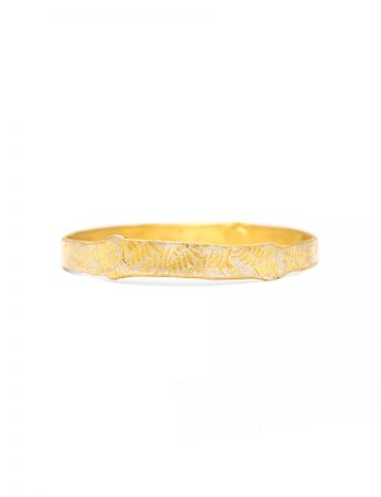 Leaves Bangle - Gold Plated