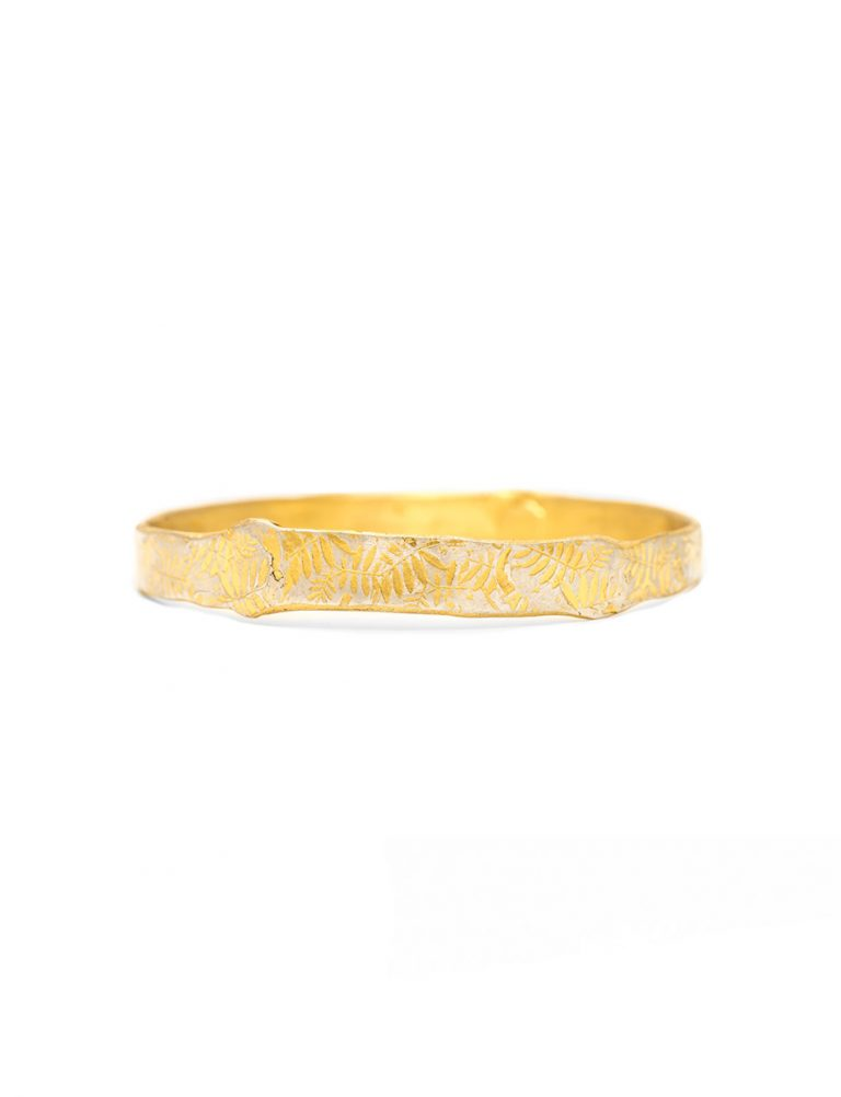 Leaves Bangle – Gold Plated