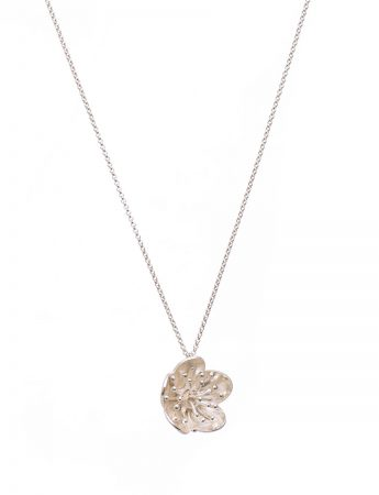 Flower Pendant Necklace - Silver