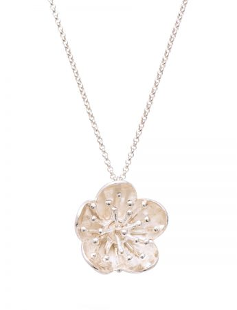 Flower Pendant Necklace – Silver