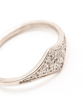 Tri Ring - Diamond & White Gold