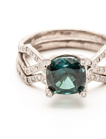 Tri Ring - Diamond & Tourmaline