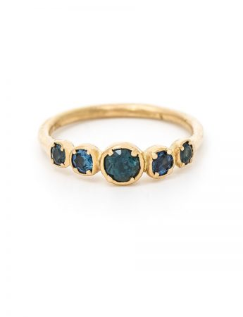 Golden Blue ring