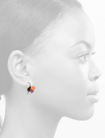 Violet Hook Earrings – Pink & Coral