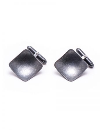 Square Cufflinks – Black