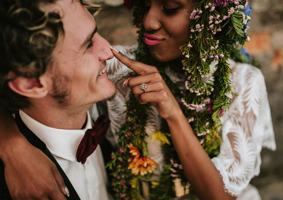 Wedding Ring Styled Shoot - Julia deVille Queenie Ring
