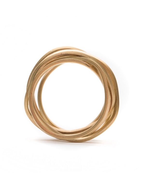 Ultracoil Ring – Yellow Gold