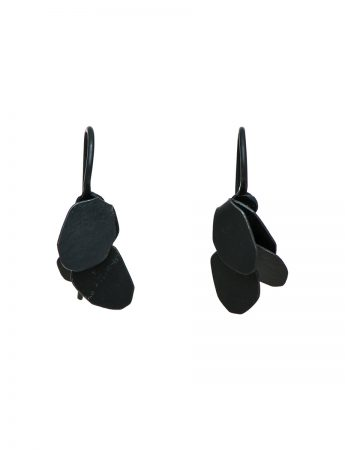 Wisteria 2 Drop Earrings - Black