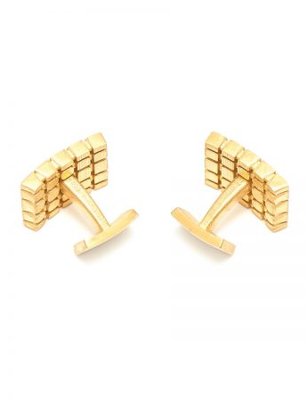 T5 Cufflinks – Sterling Silver & Gold Plate