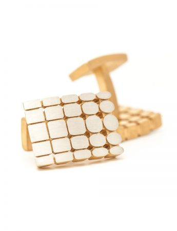 T5 Cufflinks - Sterling Silver & Gold Plate