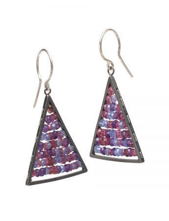 Reef Earrings – Amethyst, Tanzanite & Tourmaline