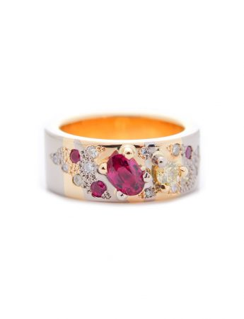 Lemon ruby ring