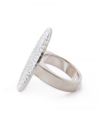 Circle & Triangles Ring