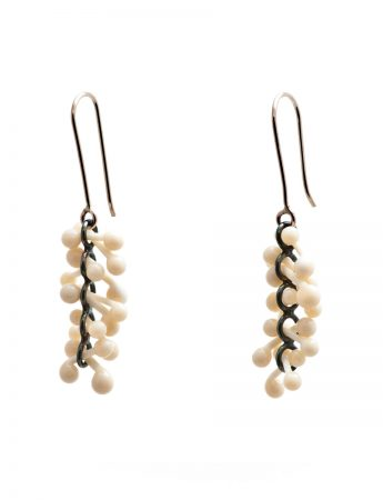 Loose Ivory Glass Earrings