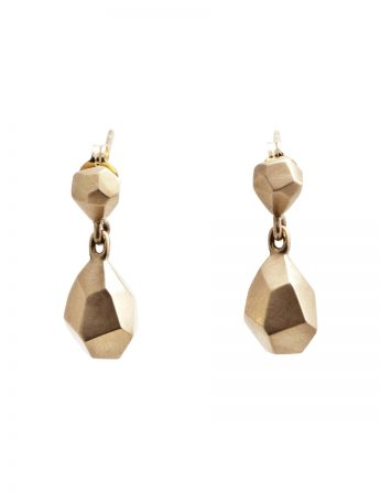 Gem Drop Earrings - Gold