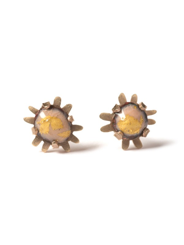 Golden nights micro stud earrings