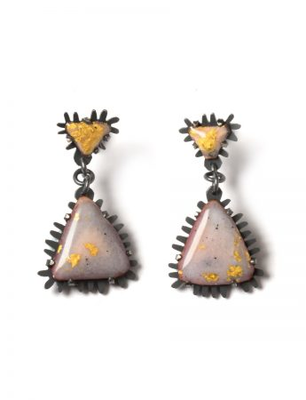 Golden nights triangle earrings