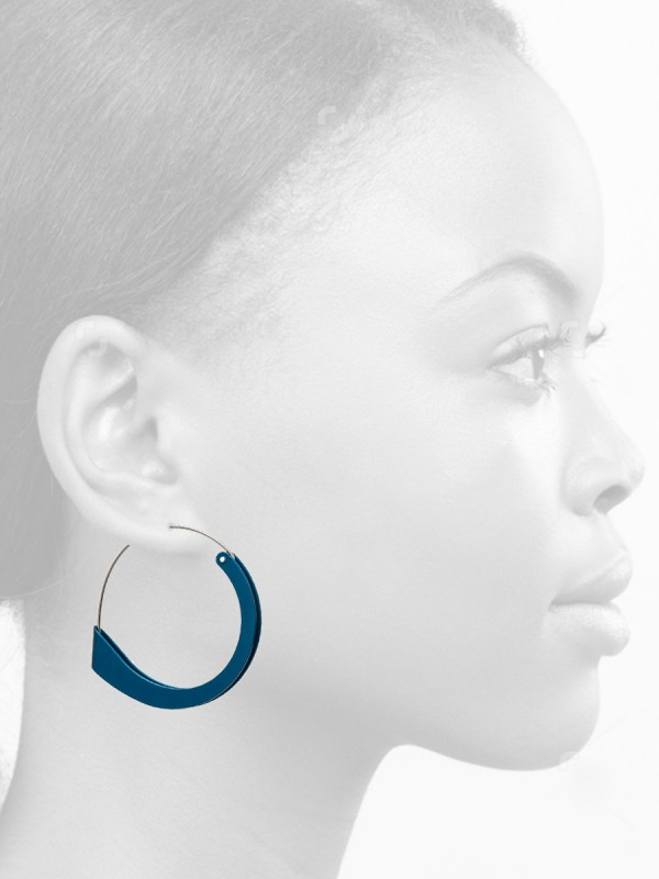 Folded Earrings – Blue