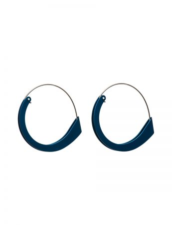 Large Folded Earrings - Blue