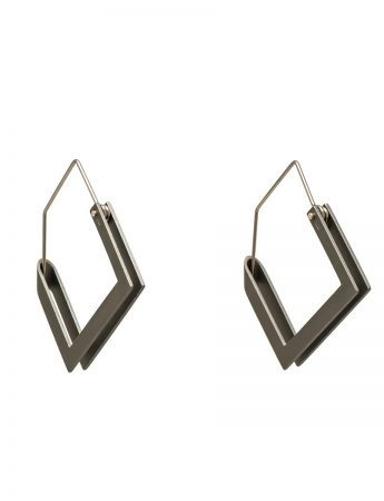 Constructivist Earrings - Grey
