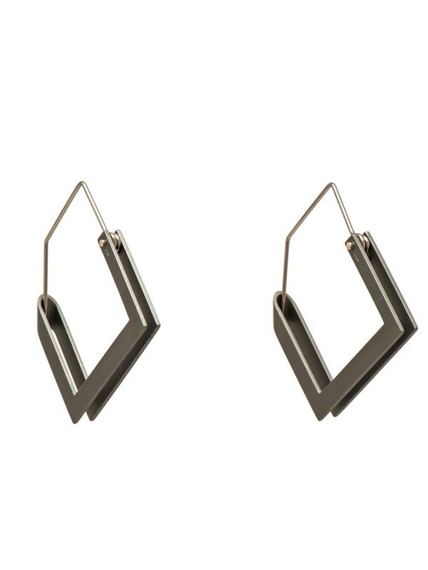 Constructivist Earrings – Grey
