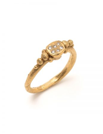 Organic Spheres Diamond Ring