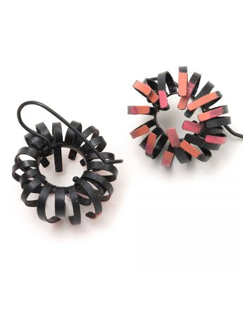 Banksia Hook Earrings – Black & Pink