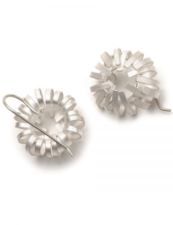 Banksia Hook Earrings - Silver