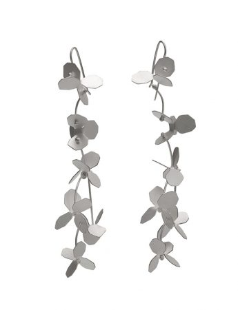 Hydrangea Earrings - Silver