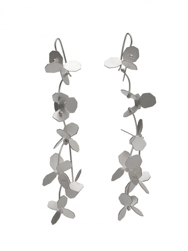 Hydrangea Earrings – Silver
