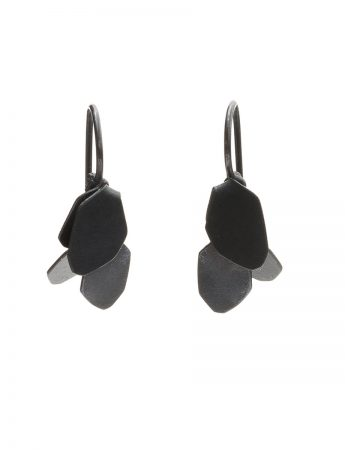 Wisteria 2 Drop Earrings - Oxidised Silver