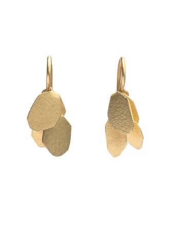 Wisteria 2 Drop Earrings - Gold